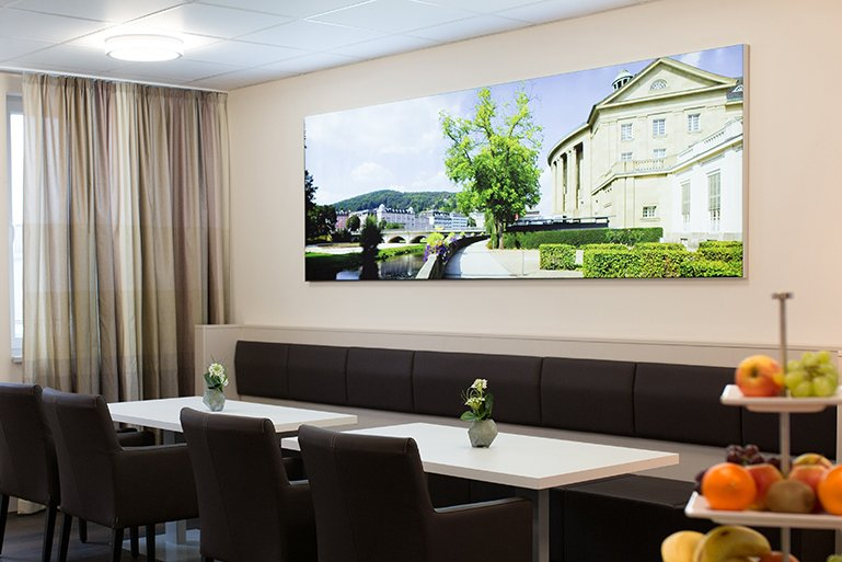 Lounge der Privatklinik Bad Kissingen
